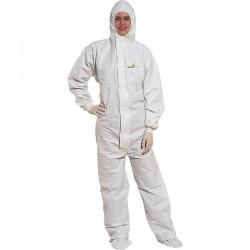 Buzo con capucha elástica, protección química