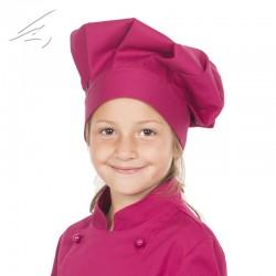 Gorro chef infantil frambuesa