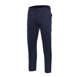 Pantalón multibolsillos 100% algodón Azul Marino