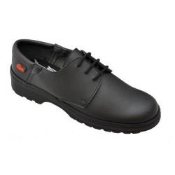 Zapato con cierre cordones antideslizante