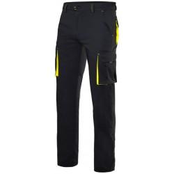 Pantalón elástico bicolor negro-amarillo AV